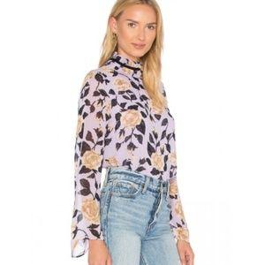 NWT Ganni Lilac Carlton Georgette Size 38 8 US